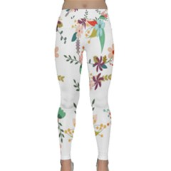 Floral Backdrop Pattern Flower Classic Yoga Leggings