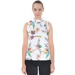 Floral Backdrop Pattern Flower Shell Top
