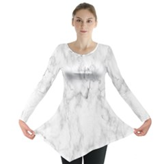 White Background Pattern Tile Long Sleeve Tunic