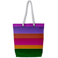 Stripes Striped Design Pattern Full Print Rope Handle Tote (small)