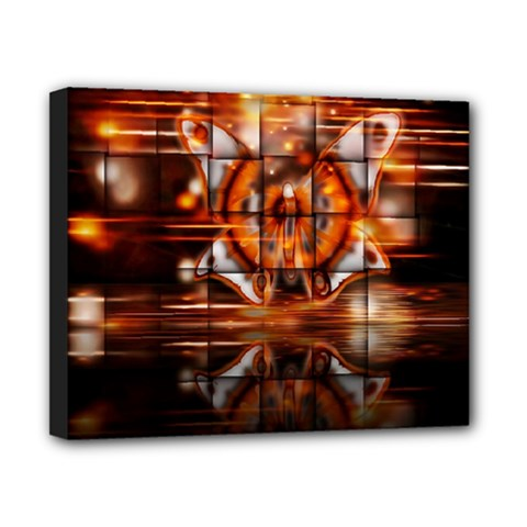 Butterfly Brown Puzzle Background Canvas 10  X 8