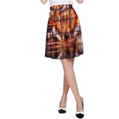 Butterfly Brown Puzzle Background A Line Skirt