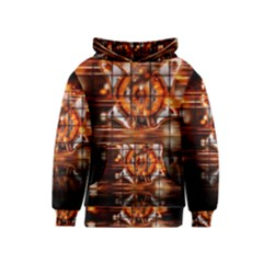 Butterfly Brown Puzzle Background Kids  Pullover Hoodie