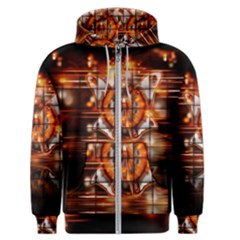 Butterfly Brown Puzzle Background Men s Zipper Hoodie
