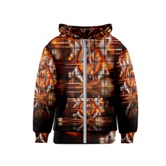 Butterfly Brown Puzzle Background Kids  Zipper Hoodie