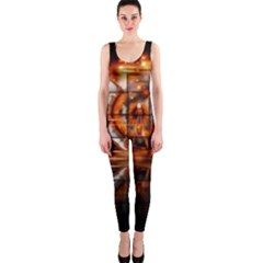 Butterfly Brown Puzzle Background Onepiece Catsuit