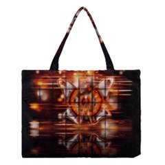 Butterfly Brown Puzzle Background Medium Tote Bag