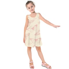 Butterfly Butterflies Vintage Kids  Sleeveless Dress