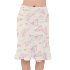 Butterfly Butterflies Vintage Mermaid Skirt