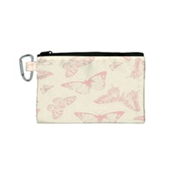 Butterfly Butterflies Vintage Canvas Cosmetic Bag (small)
