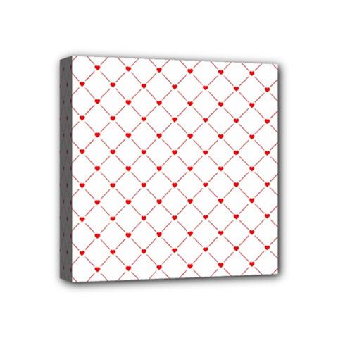 Hearts Pattern Love Design Mini Canvas 4  X 4