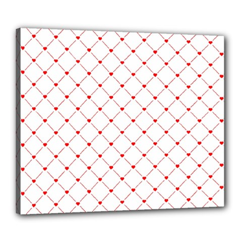 Hearts Pattern Love Design Canvas 24  X 20