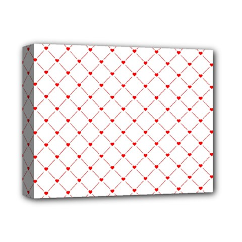 Hearts Pattern Love Design Deluxe Canvas 14  X 11