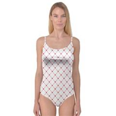 Hearts Pattern Love Design Camisole Leotard