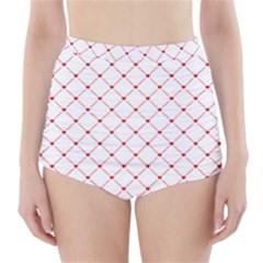 Hearts Pattern Love Design High Waisted Bikini Bottoms