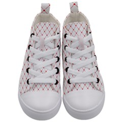 Hearts Pattern Love Design Kid s Mid Top Canvas Sneakers