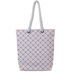 Hearts Pattern Love Design Full Print Rope Handle Tote (small)