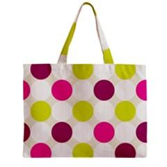 Polka Dots Spots Pattern Seamless Zipper Mini Tote Bag