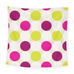 Polka Dots Spots Pattern Seamless Square Tapestry (large)