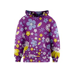 Floral Flowers Wallpaper Paper Kids  Pullover Hoodie