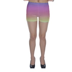 Background Watercolour Design Paint Skinny Shorts