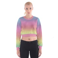 Background Watercolour Design Paint Cropped Sweatshirt