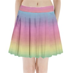 Background Watercolour Design Paint Pleated Mini Skirt