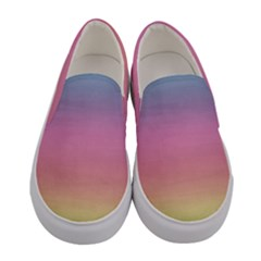 Background Watercolour Design Paint Women s Canvas Slip Ons
