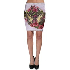 Vintage Butterfly Flower Bodycon Skirt