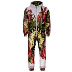 Vintage Butterfly Flower Hooded Jumpsuit (men)