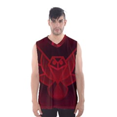 Bird Owl Eagle Owl Fragment Men s Basketball Tank Top