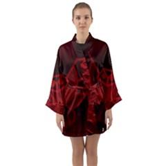 Bird Owl Eagle Owl Fragment Long Sleeve Kimono Robe