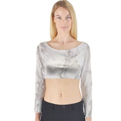 Marble Background Backdrop Long Sleeve Crop Top