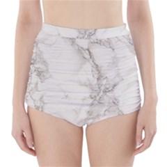 Marble Background Backdrop High Waisted Bikini Bottoms
