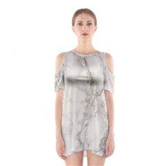 Marble Background Backdrop Shoulder Cutout One Piece
