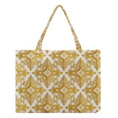 Gold Pattern Wallpaper Fleur Medium Tote Bag