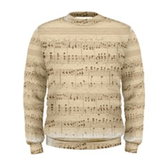 Vintage Beige Music Notes Men s Sweatshirt