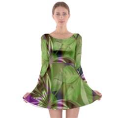 Arrangement Butterfly Aesthetics Long Sleeve Skater Dress