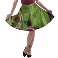 Arrangement Butterfly Aesthetics A Line Skater Skirt