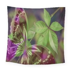 Arrangement Butterfly Aesthetics Square Tapestry (large)
