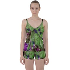 Arrangement Butterfly Aesthetics Tie Front Two Piece Tankini