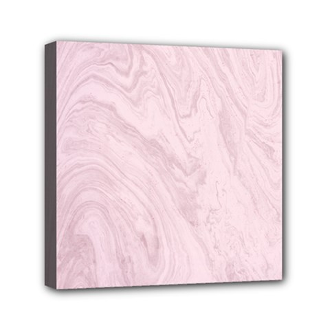 Marble Background Texture Pink Mini Canvas 6  X 6