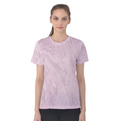 Marble Background Texture Pink Women s Cotton Tee
