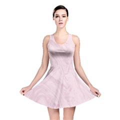 Marble Background Texture Pink Reversible Skater Dress