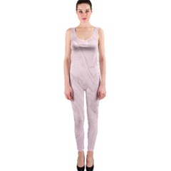 Marble Background Texture Pink Onepiece Catsuit