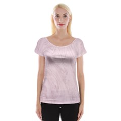 Marble Background Texture Pink Cap Sleeve Tops