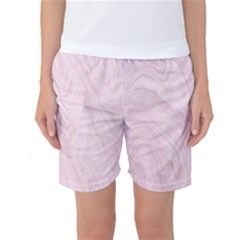 Marble Background Texture Pink Women s Basketball Shorts