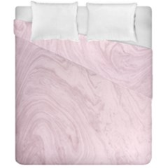 Marble Background Texture Pink Duvet Cover Double Side (california King Size)