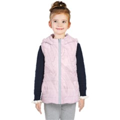 Marble Background Texture Pink Kid s Puffer Vest