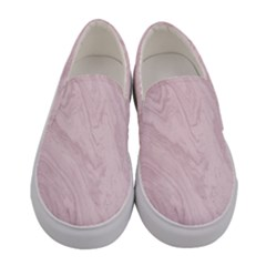 Marble Background Texture Pink Women s Canvas Slip Ons